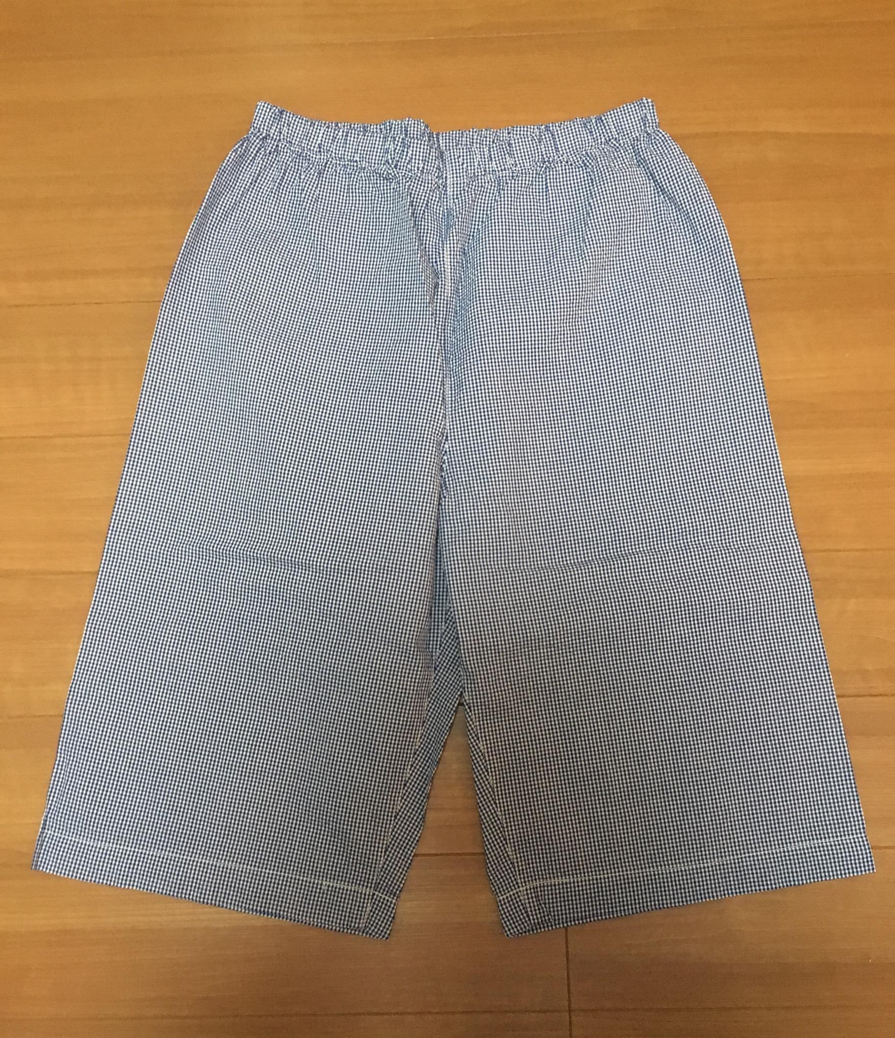 無印良品のサッカー織り半袖パジャマのパンツ