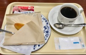 ドトールのスイートポテトとブラックコーヒー