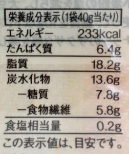 無印良品の糖質10g以下のお菓子 キャラメルサブレの栄養成分表示