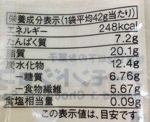 無印良品の糖質10g以下のお菓子 アーモンドショコラサブレの栄養成分表示