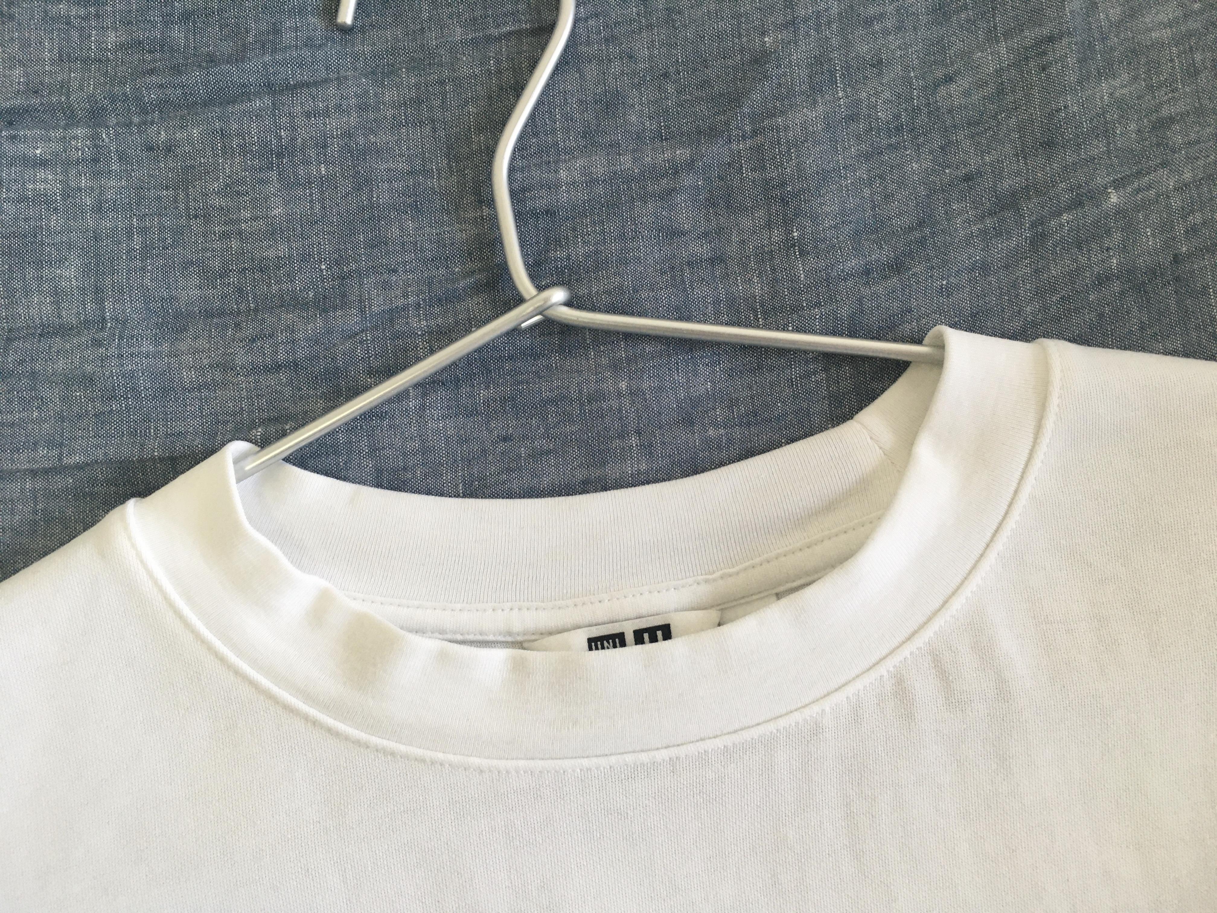 ユニクロUのエアリズムコットンオーバーサイズTシャツ(5分袖)
