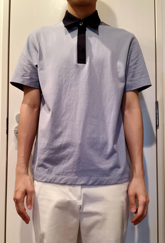 ユニクロ×セオリーのエアリズムジャージースリムフィットポロシャツのサイズ感